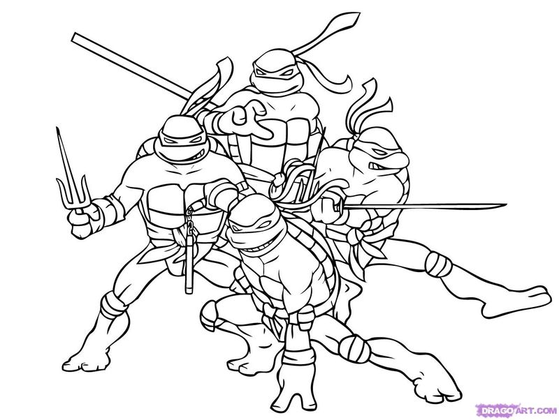 Lego Ninja Turtle Coloring Pages