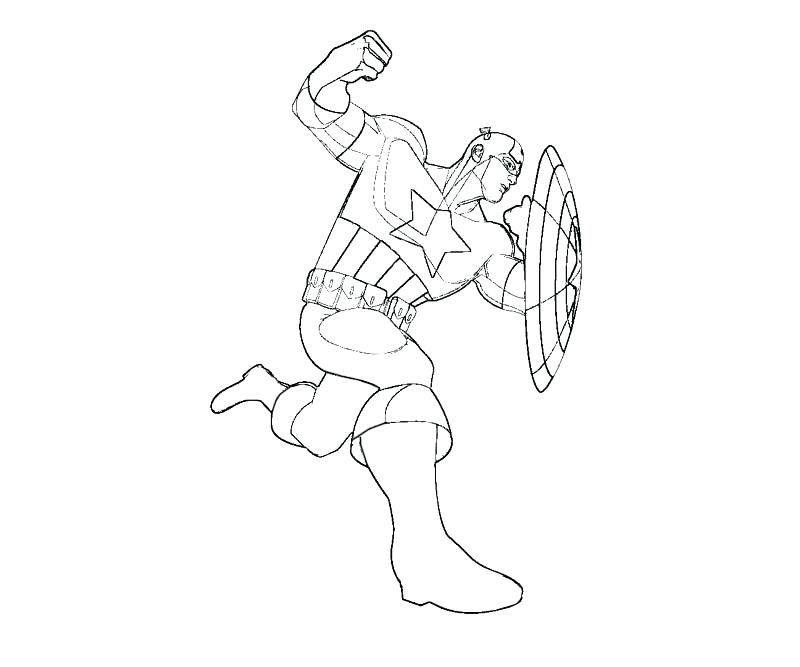 Lego People Coloring Pages Captain America