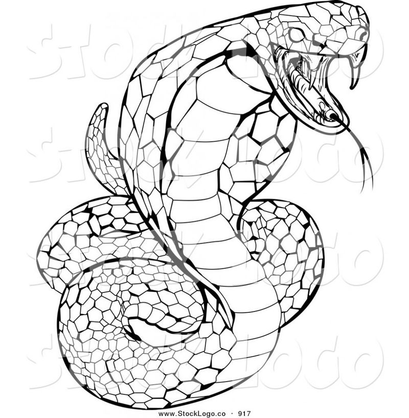 Lego Snake Coloring Page