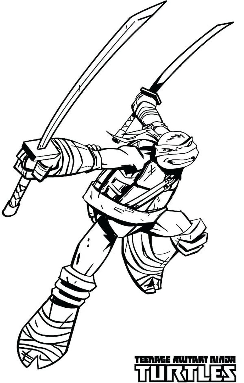 Leo Ninja Turtle Coloring Pages