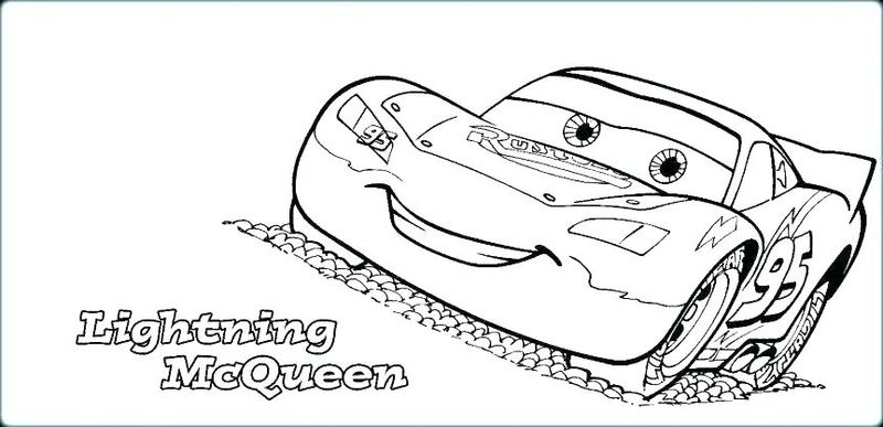 Lightning Mcqueen Coloring Page Free