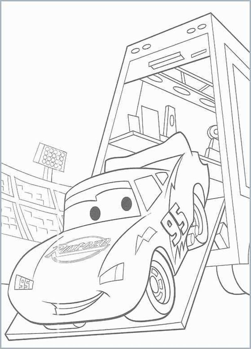 Lightning Mcqueen Coloring Pages Cars 2