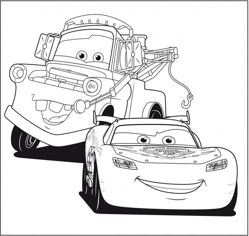 Lightning Mcqueen Coloring Pages Easy