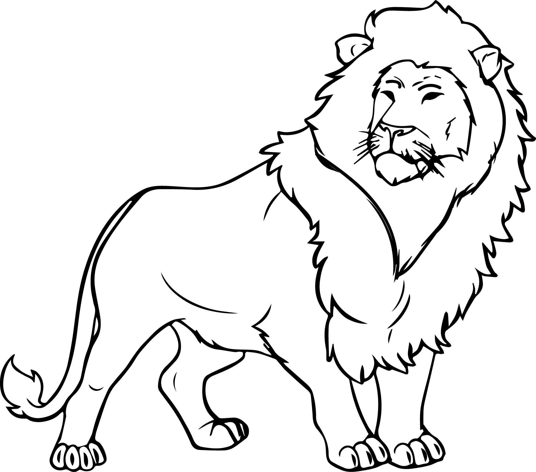 Lion Coloring Pages Free Printable