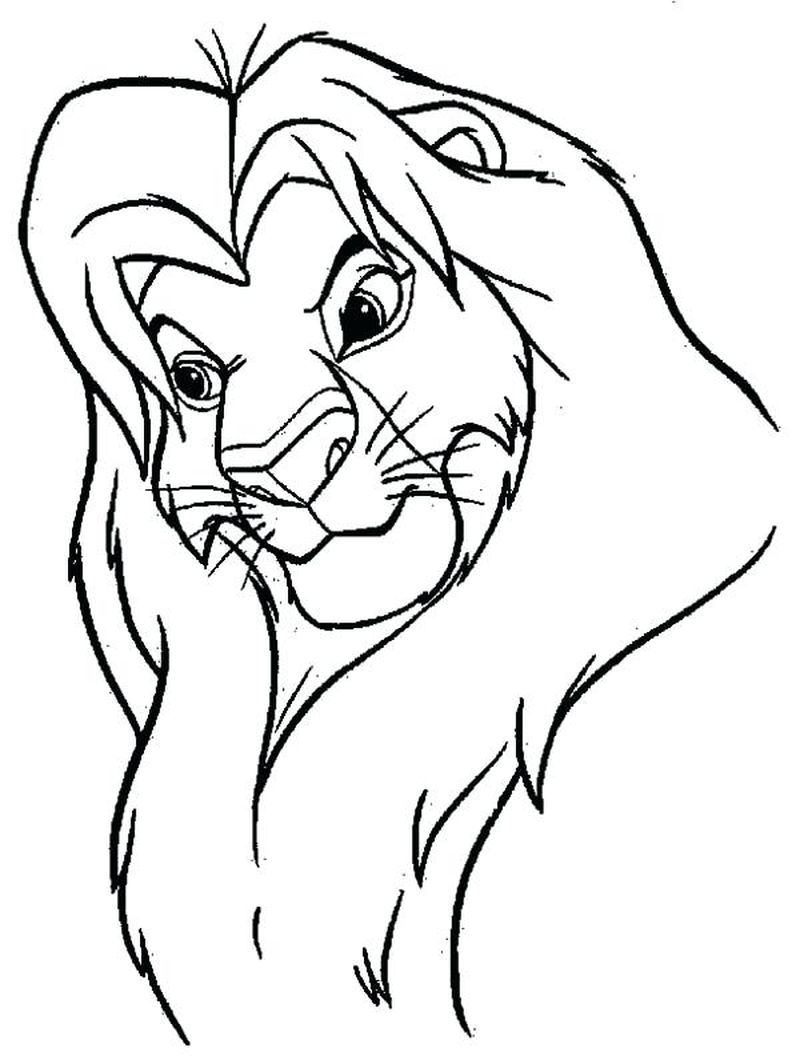 Lion King Coloring Book Pages