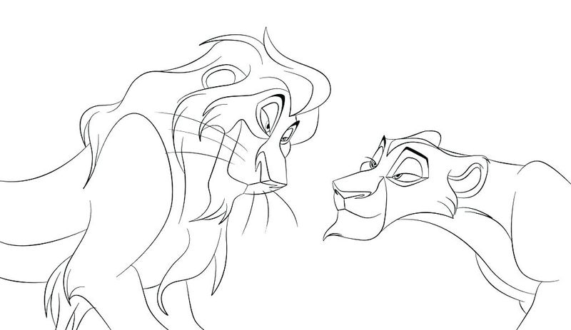 Lion King Coloring Pages Easy