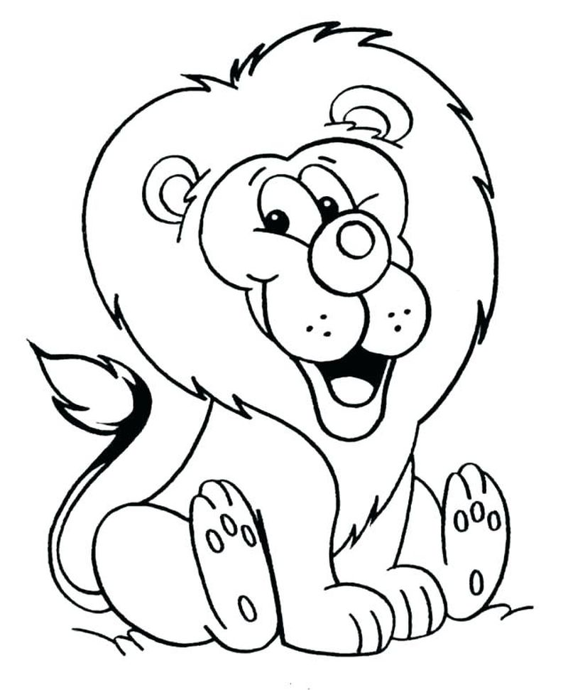 Lion King Coloring Pages For Toddlers