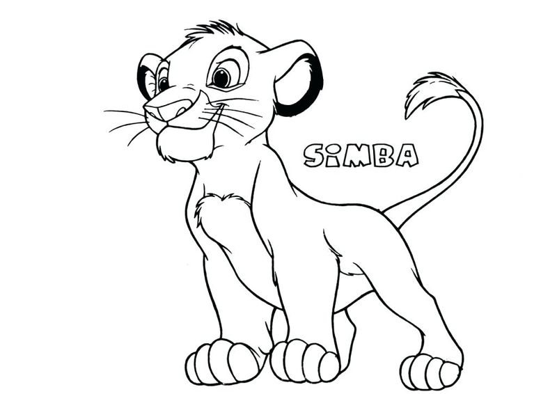 Lion King Coloring Pages Online Game