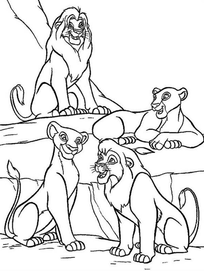 Lion King Family Coloring Page