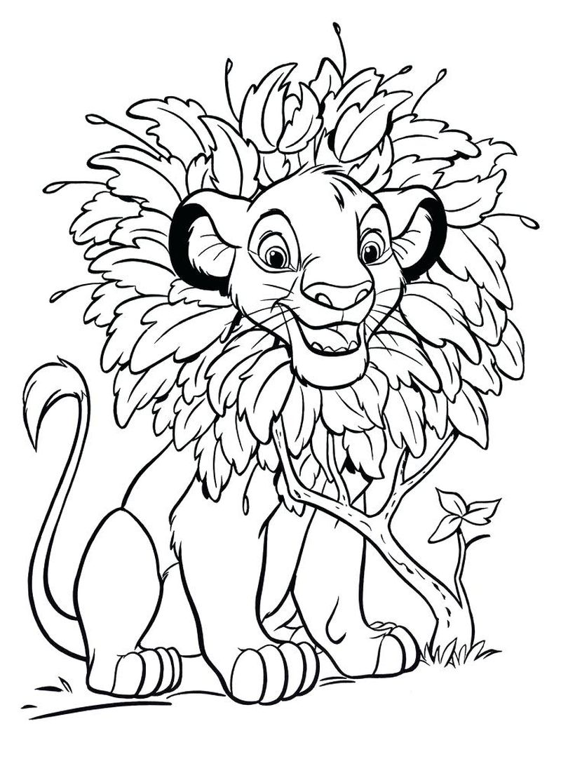 Lion King Simba Coloring Pages