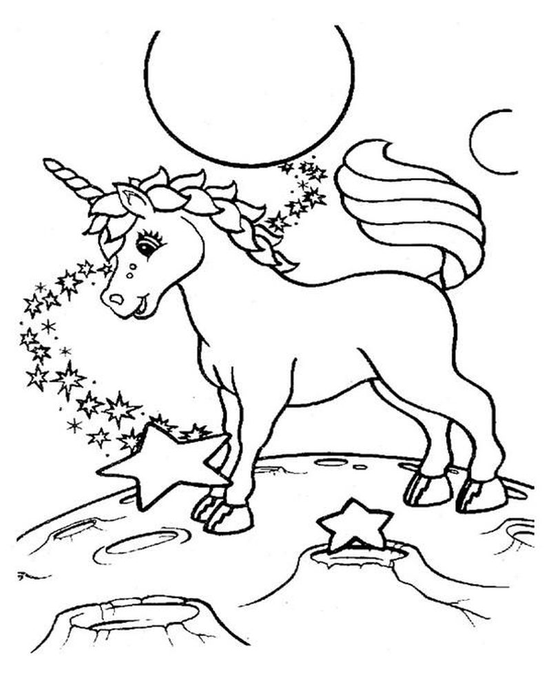 Lisa Frank Unicorn Coloring Pages