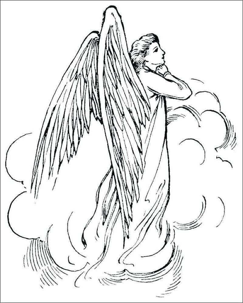 Little Boy Angel Coloring Pages