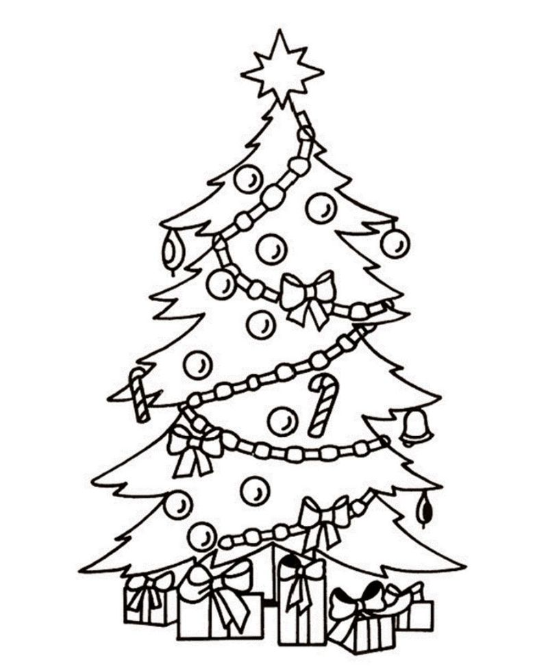 Little Christmas Tree Coloring Pages