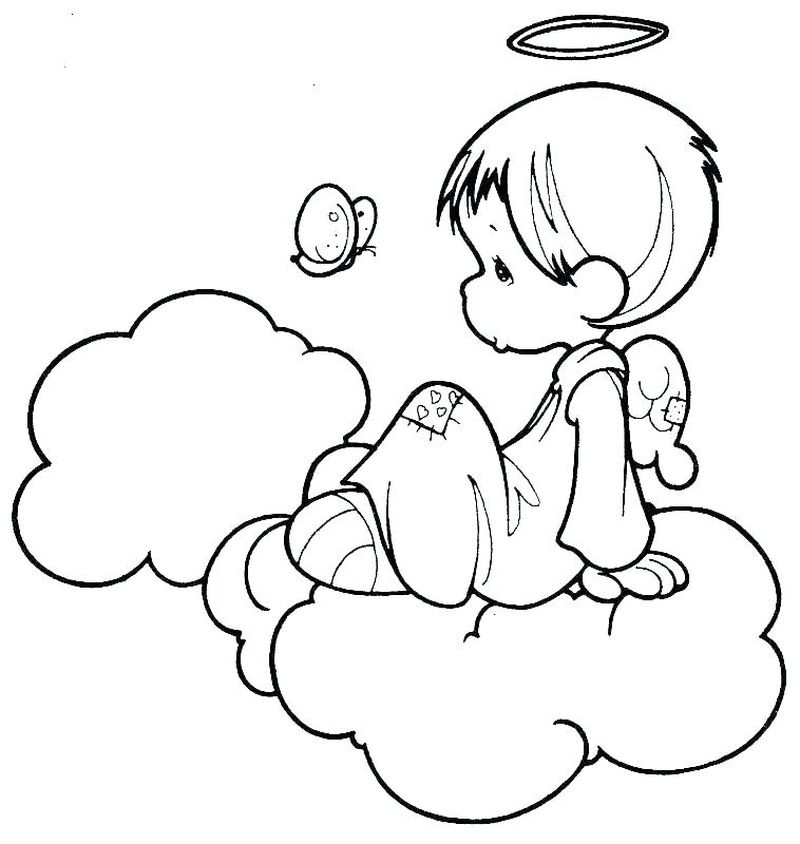 Little Girl Angel Coloring Pages