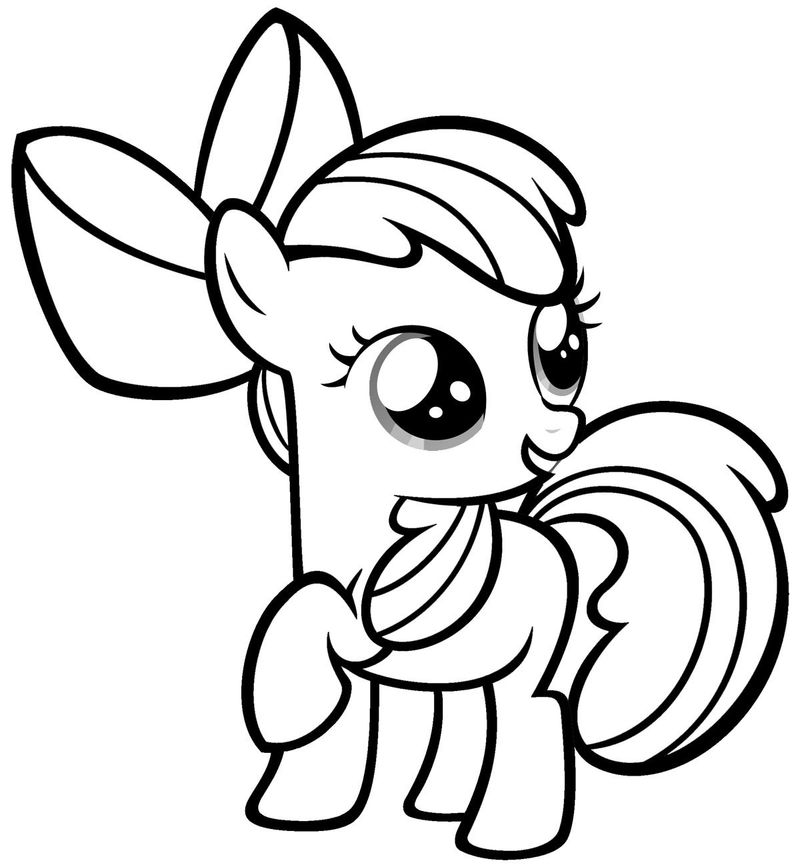 Little Pony Birthday Coloring Pages