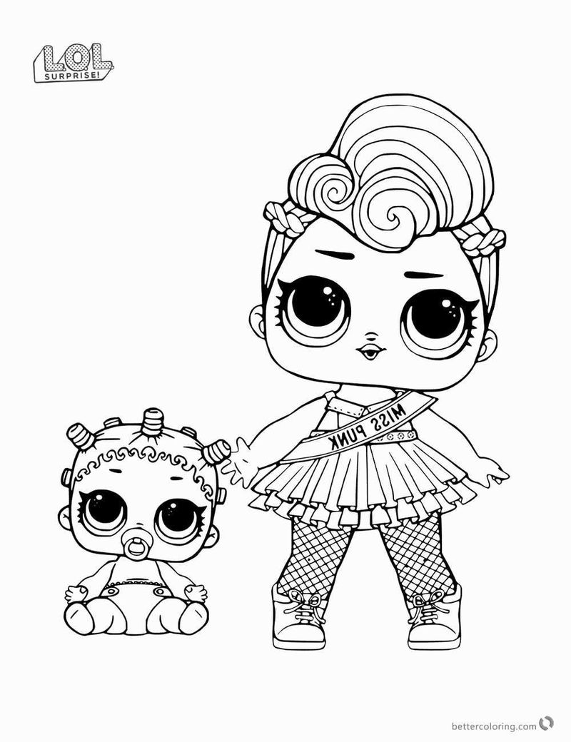 Lol Coloring Pages Hair Goals