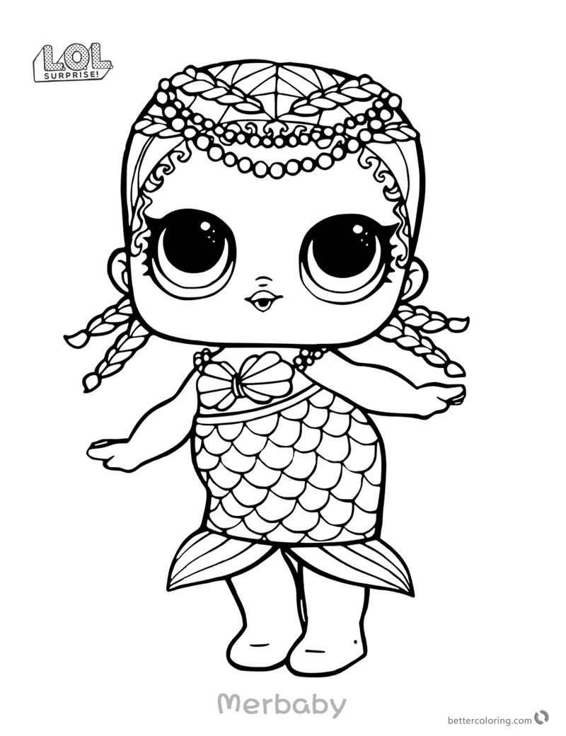 Lol Coloring Pages Merbaby
