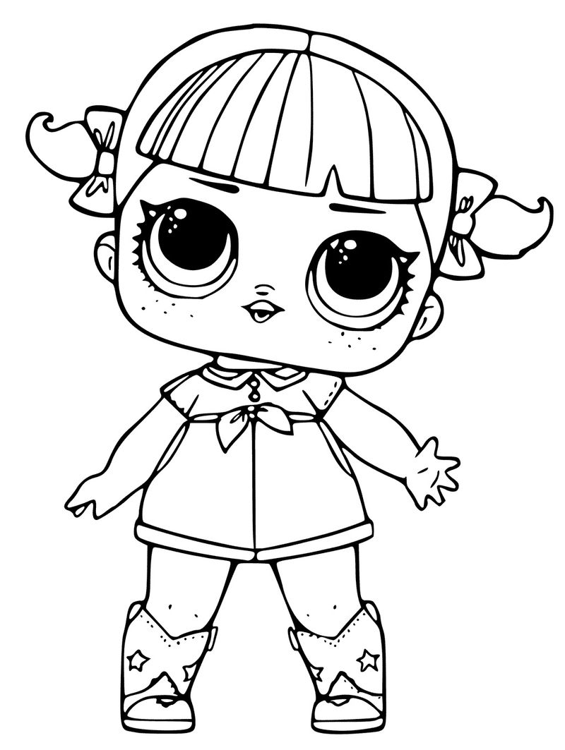 Lol Colouring Pages Baby Doll