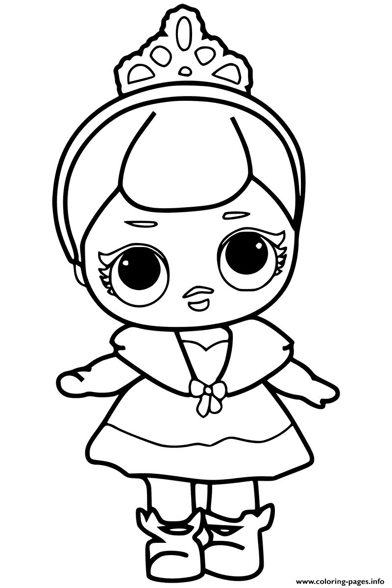 Lol Doll Coloring Pages Black And White