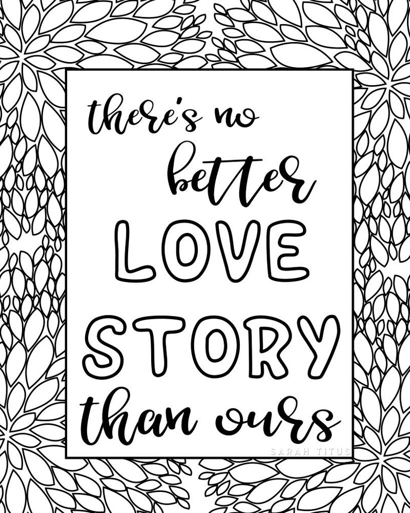 Love Quote Coloring Pages