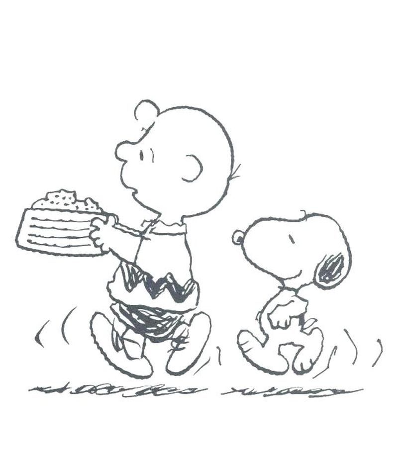 Lucy Snoopy Coloring Page