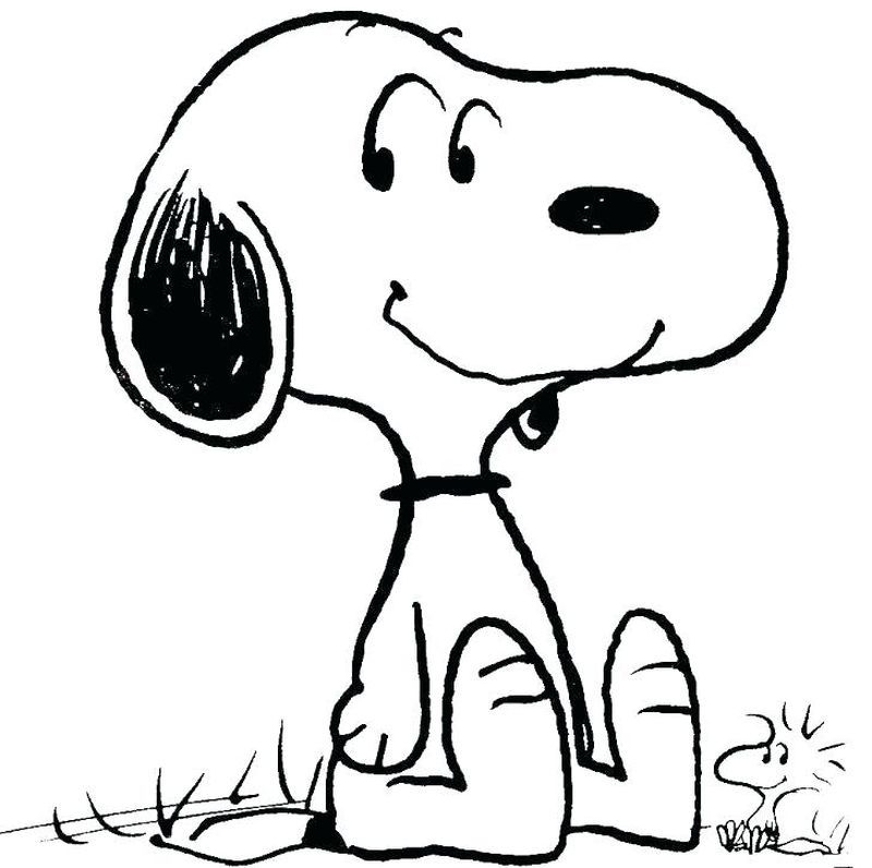 Lucy Snoopy Coloring Pages