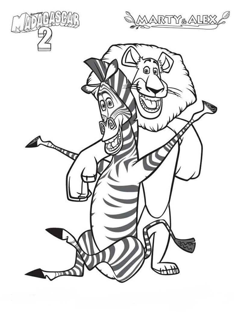 Madagascar 2 Coloring Pages