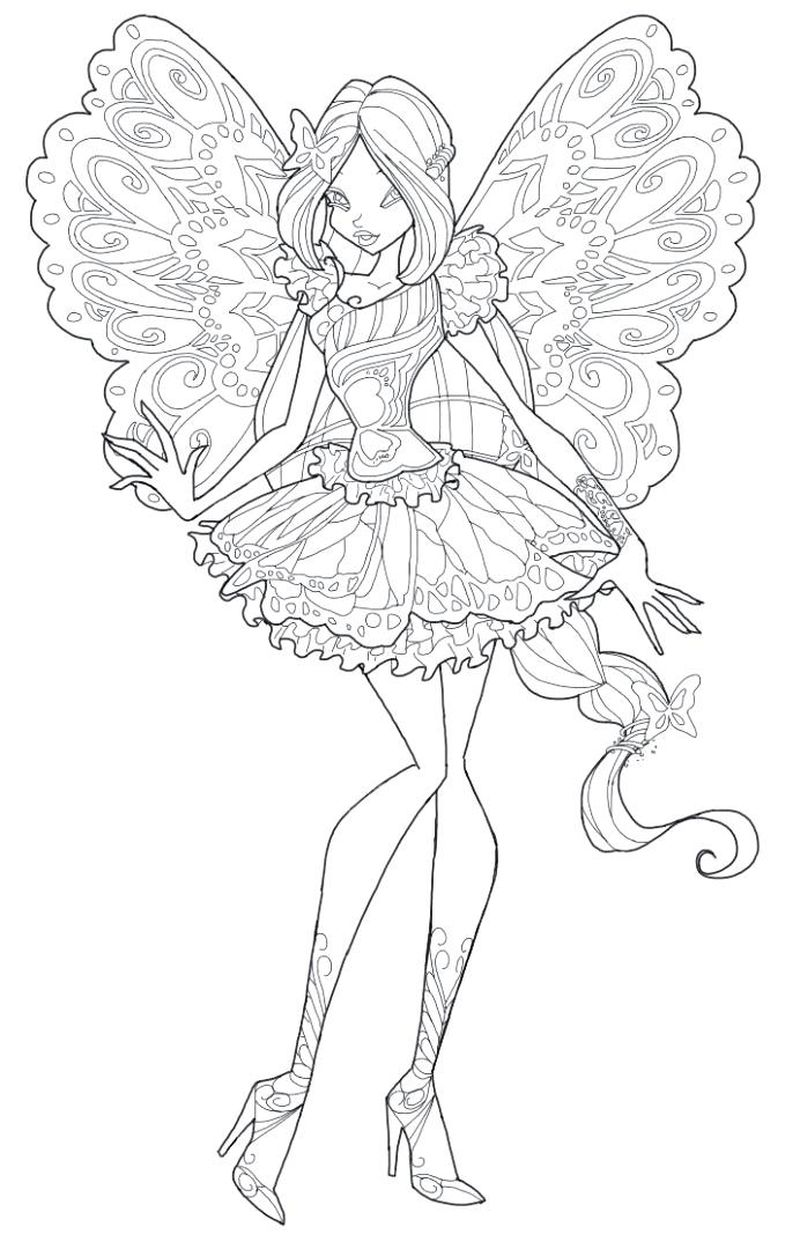 Magic Winx Coloring Pages