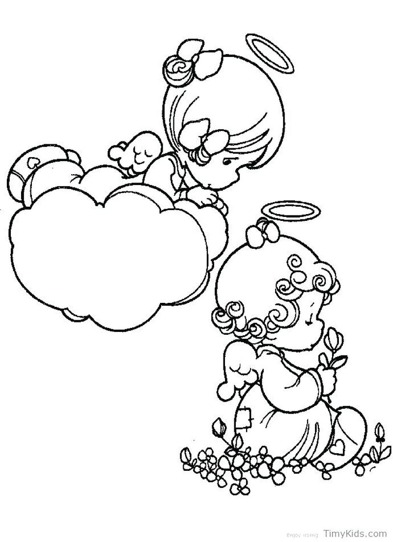 Male Angel Coloring Pages