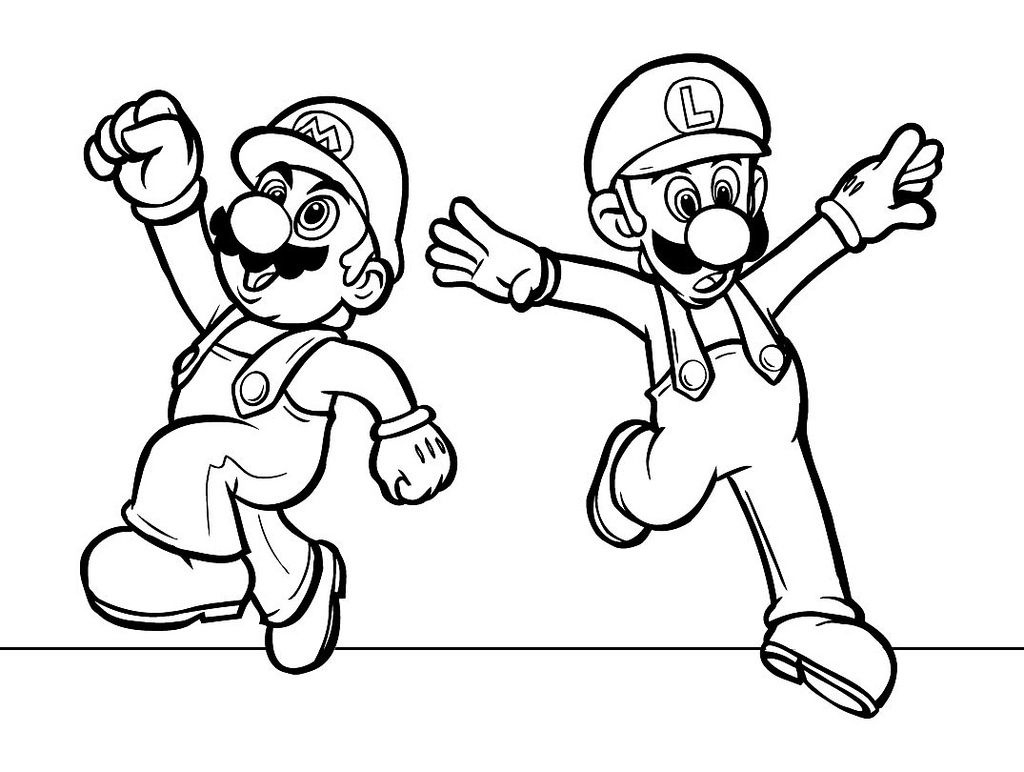 Mario Coloring Pages Bowser