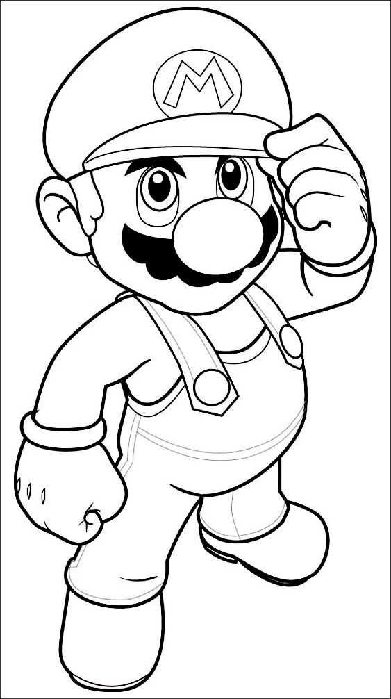 Mario Coloring Pages Toad