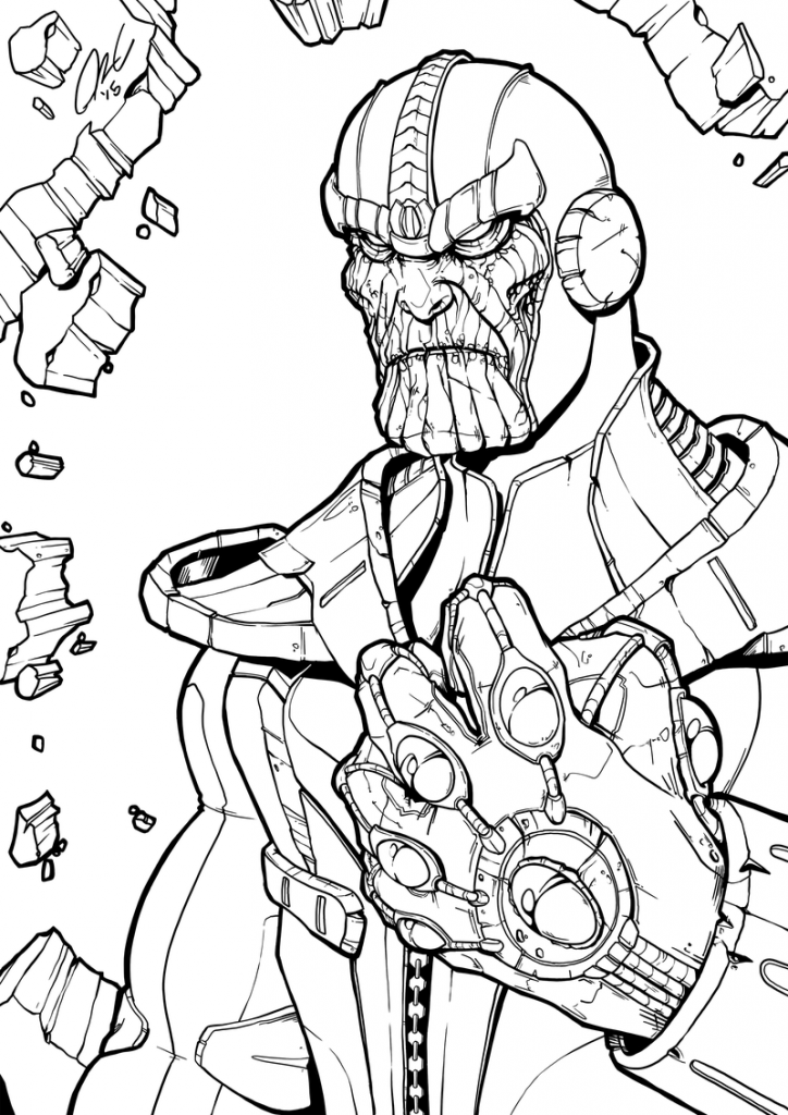 Marvel Thanos Coloring Pages