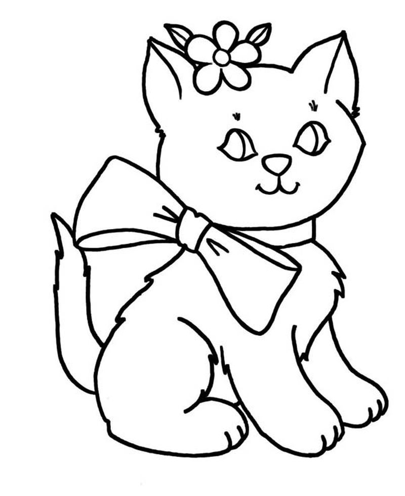 Mermaid Cats Coloring Pages
