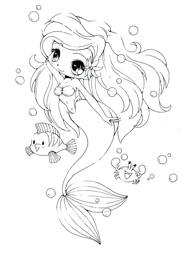 Mermaid Coloring Pages For Toddlers