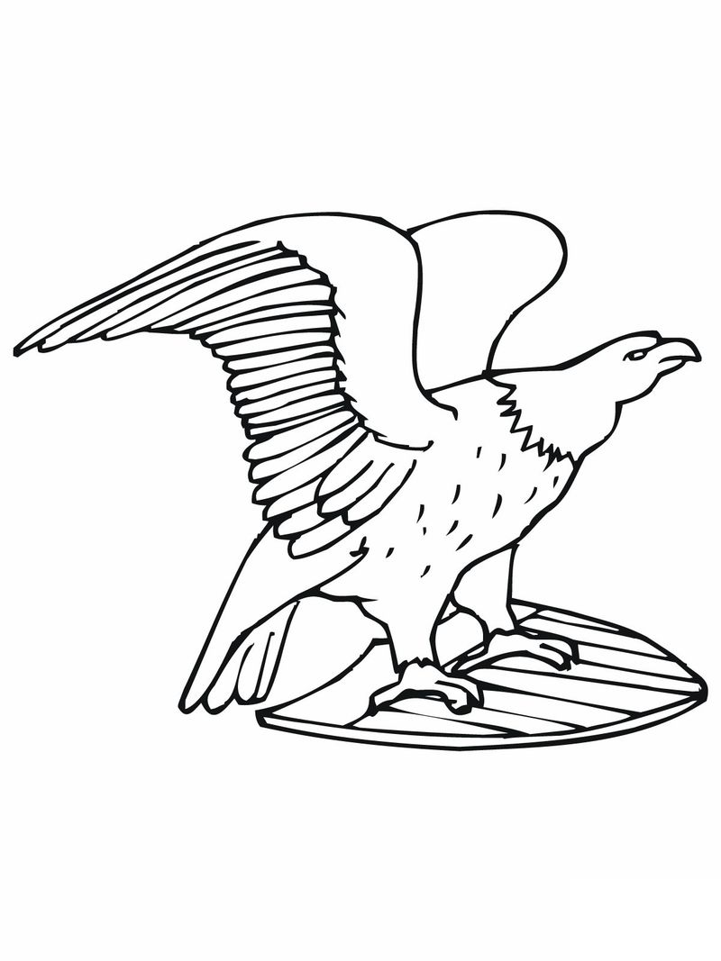 Mexican Eagle Coloring Pages
