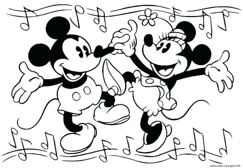Minnie Mouse Coloring Pages Baby
