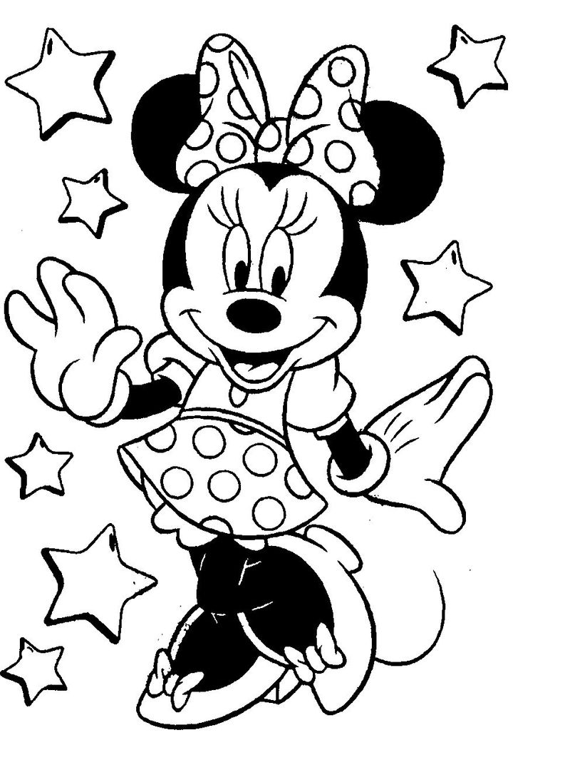Minnie Mouse Coloring Pages Disney