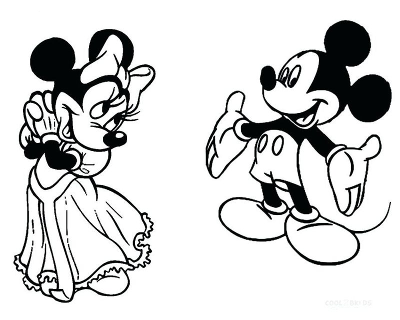 Minnie Mouse Coloring Pages For Toddlers