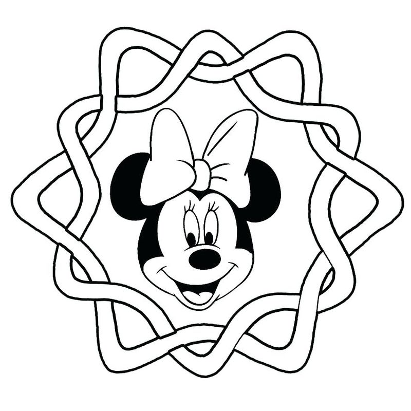 Minnie Mouse Coloring Pages Images
