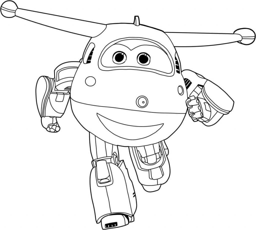 Mira Super Wings Coloring Pages