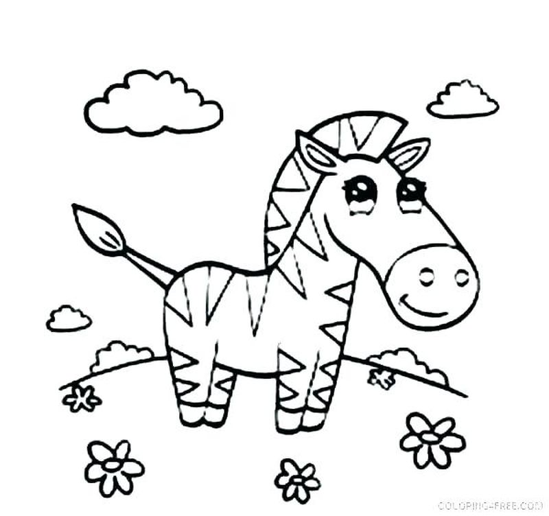 Mom And Baby Zebra Coloring Pages
