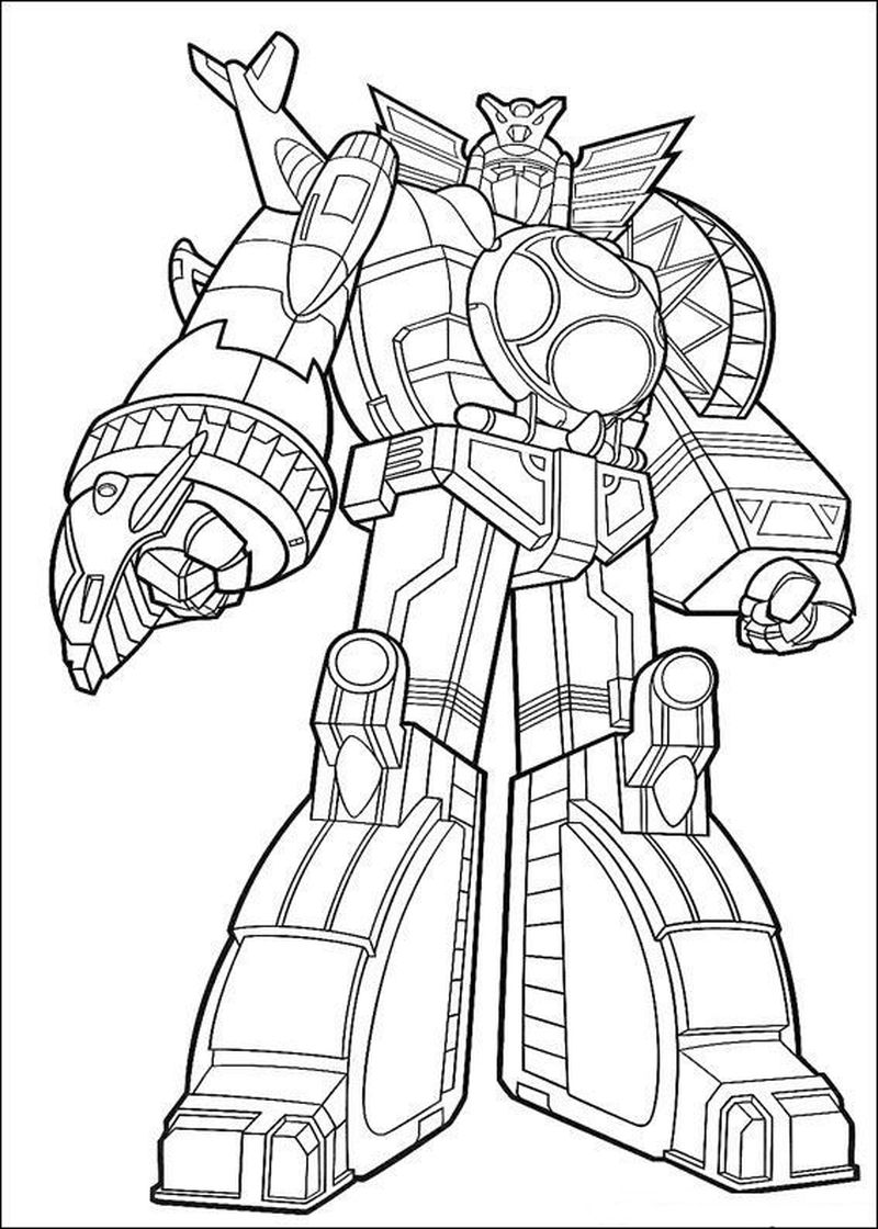 Momjunction Power Rangers Coloring Pages