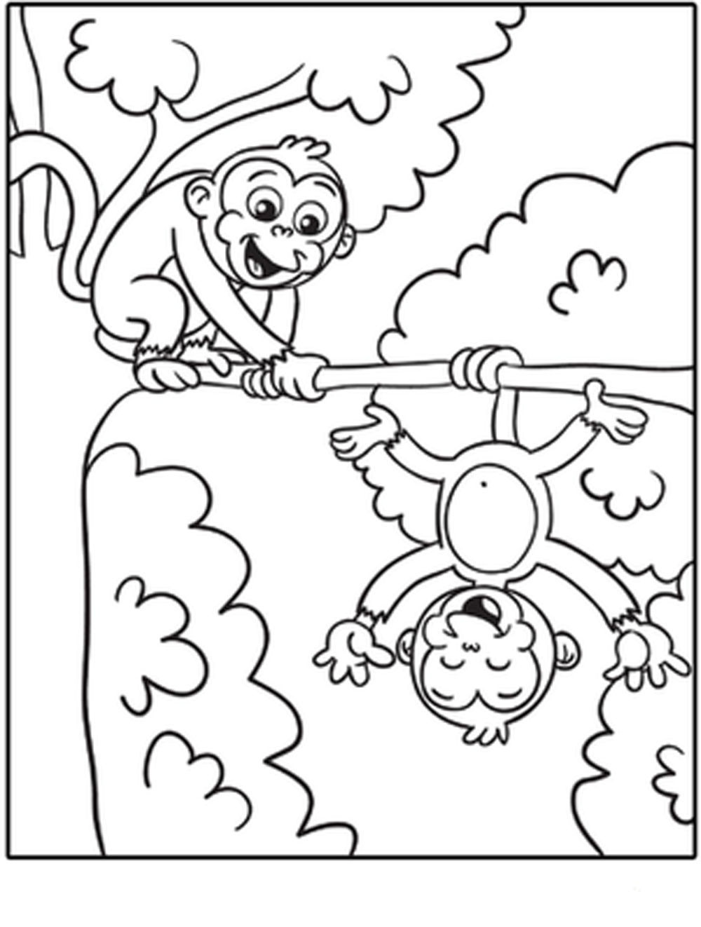 Monkey Coloring Pages Online