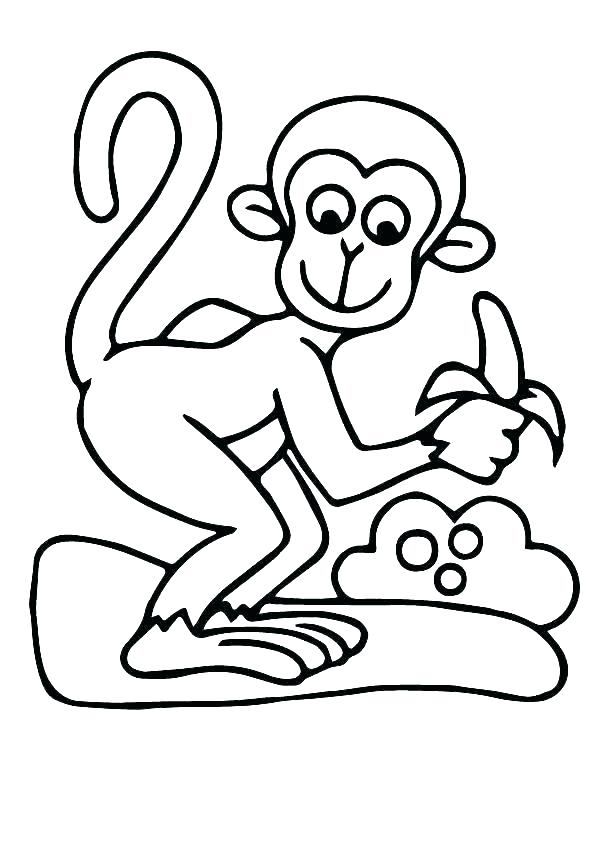 Monkey Colouring Pages Free