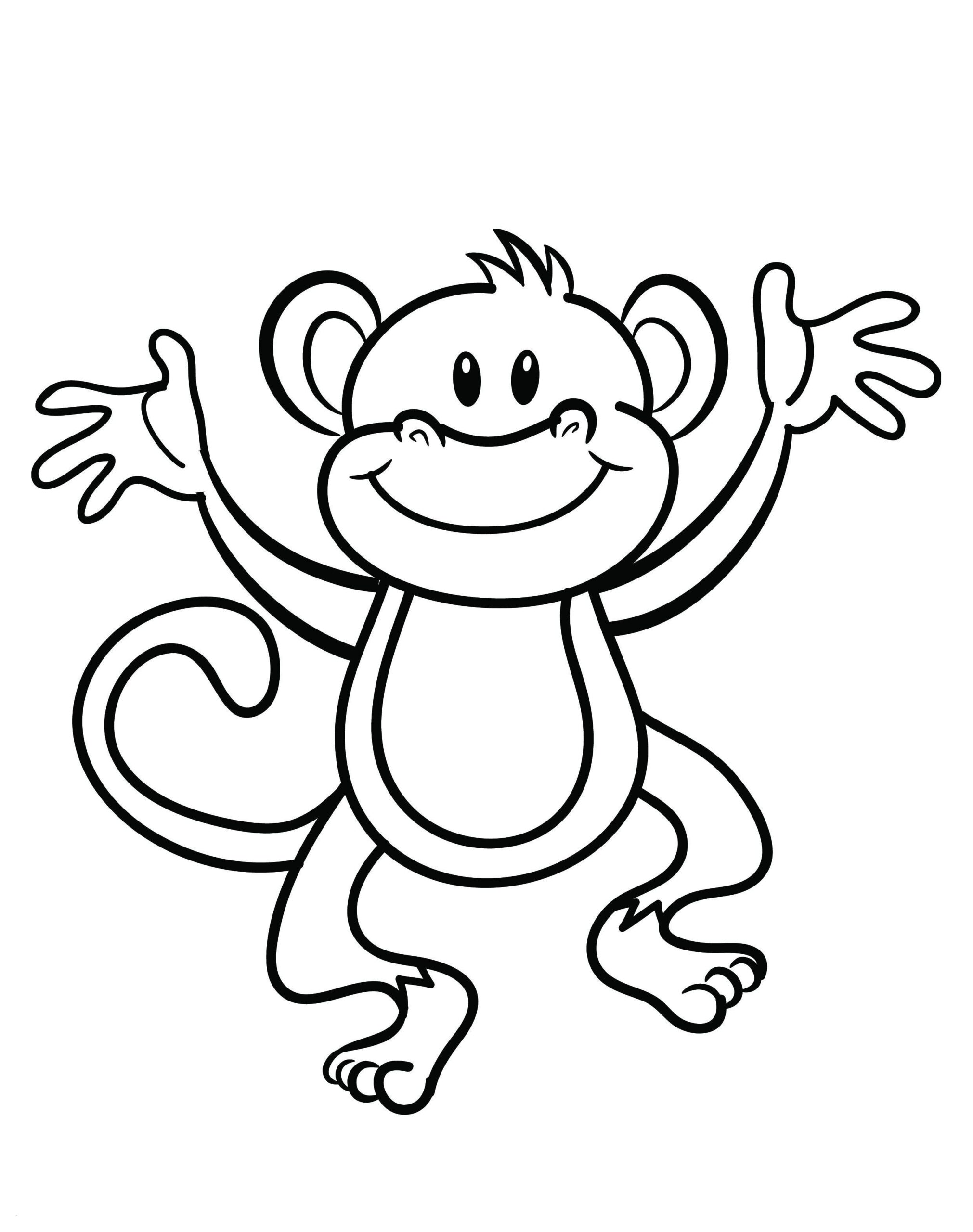 Monkey Colouring Pages Printable