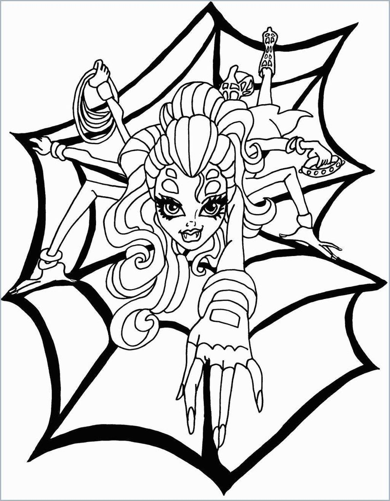 Monster High Coloring Pages Gigi