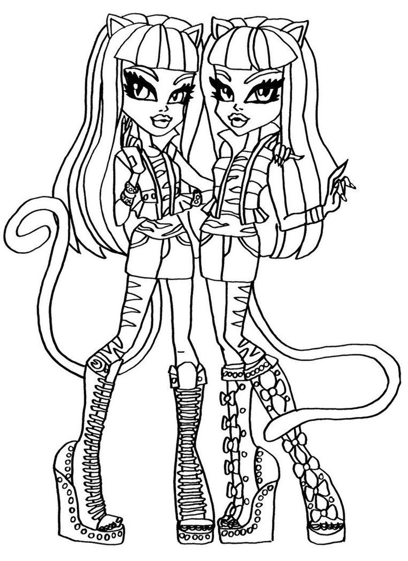 Monster High Coloring Pages Hellokids