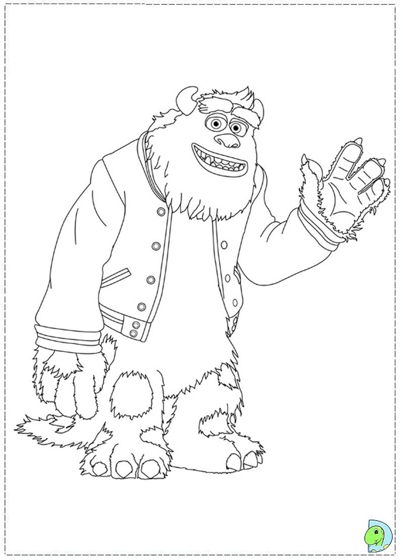 Monster Inc Characters Coloring Pages