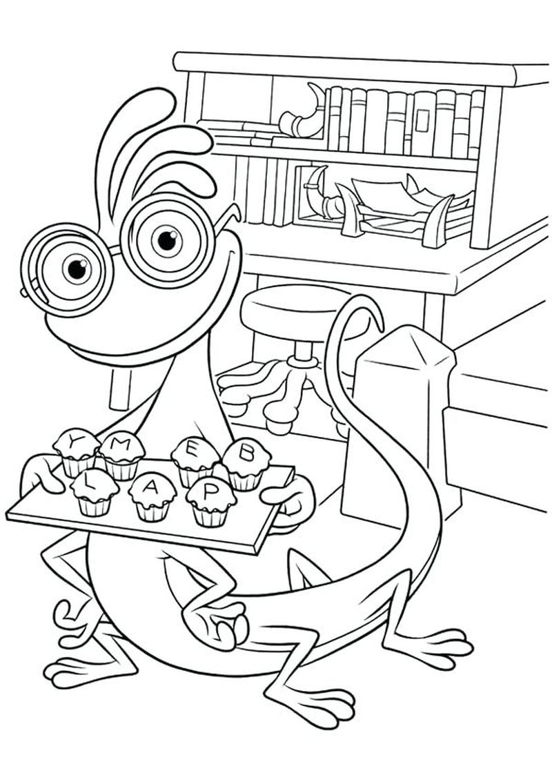 Monster Inc Coloring Pages Free