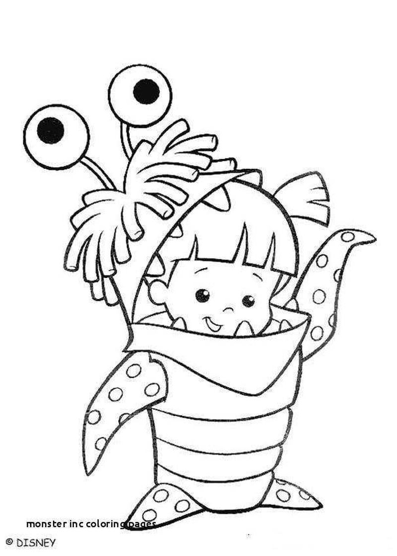 Monster Inc Coloring Pages Pdf